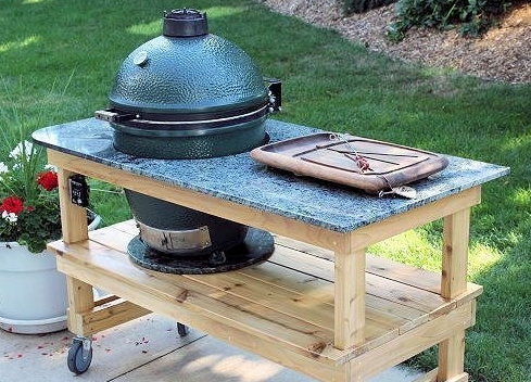 Big Green Egg Granite Top Table